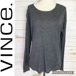 Vince long sleeve oversized tee size S